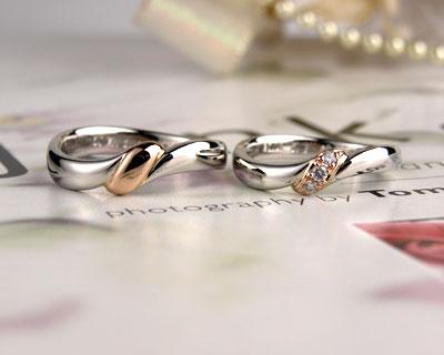 結び目の結婚指輪コンビ