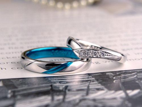 ブルーコート結婚指輪