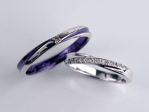 バイオレットカラーコート結婚指輪