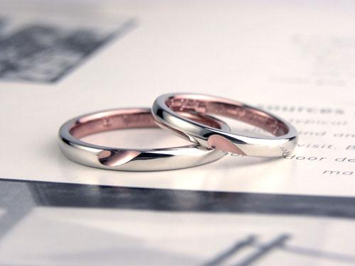 ピンクブラウンコート結婚指輪