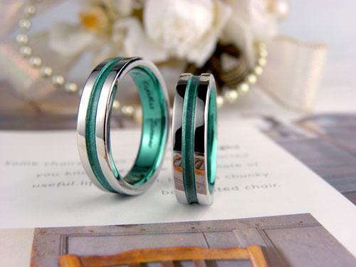 グリーンコート結婚指輪