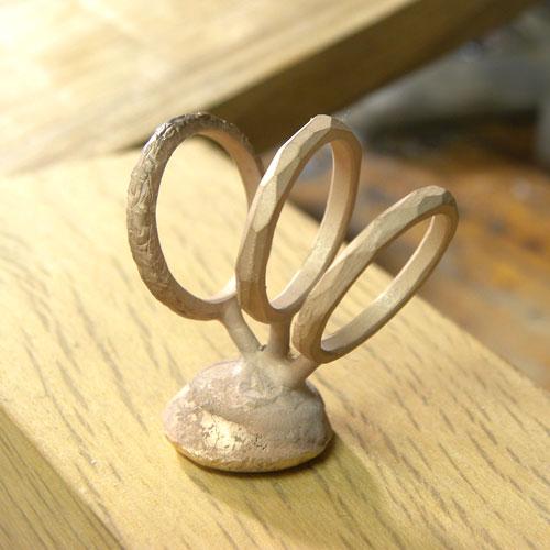 ピンクゴールド結婚指輪の鋳造